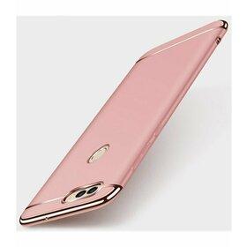 Husa 3 in 1 Luxury pentru Huawei Y7 Prime (2018)/ Huawei Y7 (2018) Rose Gold