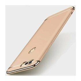 Husa 3 in 1 Luxury pentru Huawei Y7 Prime (2018)/ Huawei Y7 (2018) Gold