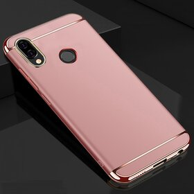 Husa 3 in 1 Luxury pentru Huawei Y9 (2019) Rose Gold