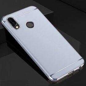 Husa 3 in 1 Luxury pentru Huawei Y9 (2019) Silver