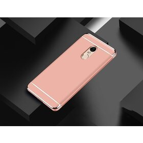 Husa 3 in 1 Luxury pentru Xiaomi Redmi Note 4 Rose Gold