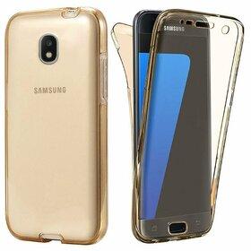 Husa 360 Full Silicon pentru Galaxy J7 (2017) Gold