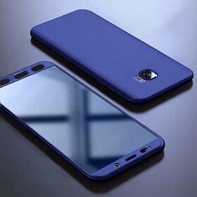 Husa 360 pentru Galaxy S6 Edge Navy