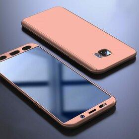 Husa 360 pentru Galaxy S7 Edge Rose Gold