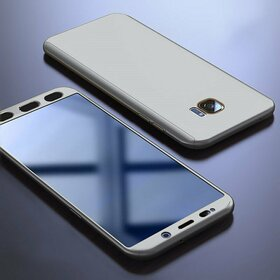 Husa 360 pentru Galaxy S7 Edge Silver