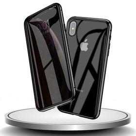 Husa 360 Magnetica cu Sticla Anti Spionaj fata + spate pentru iPhone X/ iPhone XS Black