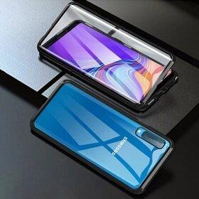 Husa 360 Magnetica cu Sticla fata + spate pentru Galaxy A50 Black