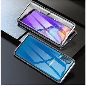 Husa 360 Magnetica cu Sticla fata + spate pentru Galaxy A50 Silver