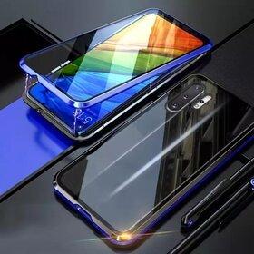 Husa 360 Magnetica cu Sticla fata + spate pentru Galaxy Note 10 Blue