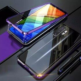 Husa 360 Magnetica cu Sticla fata + spate pentru Galaxy Note 10 Plus Purple