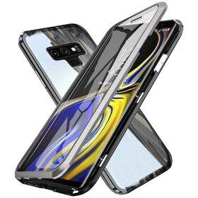 Husa 360 Magnetica cu Sticla fata + spate pentru Galaxy Note 9 Silver