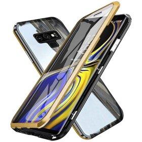 Husa 360 Magnetica cu Sticla fata + spate pentru Galaxy Note 9 Gold