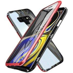 Husa 360 Magnetica cu Sticla fata + spate pentru Galaxy Note 9 Red