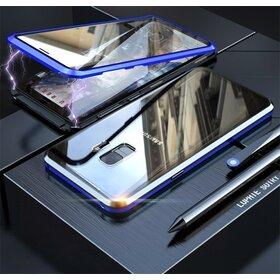Husa 360 Magnetica cu Sticla fata + spate pentru Galaxy S9 Blue