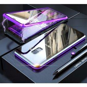 Husa 360 Magnetica cu Sticla fata + spate pentru Galaxy S9 Plus Purple