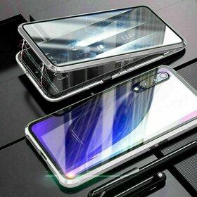 Husa 360 Magnetica cu Sticla fata + spate pentru Huawei P20 Pro Silver