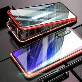 Husa 360 Magnetica cu Sticla fata + spate pentru Huawei P30 Pro Red