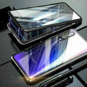 Husa 360 Magnetica cu Sticla fata + spate pentru Huawei P30 Pro Black