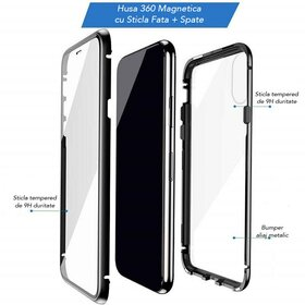Husa 360 Magnetica cu Sticla fata + spate pentru iPhone 7+/ iPhone 8+
