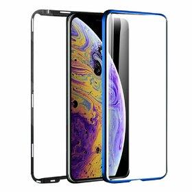 Husa 360 Magnetica cu Sticla fata + spate pentru iPhone X/ iPhone XS Blue