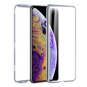 Husa 360 Magnetica cu Sticla fata + spate pentru iPhone X/ iPhone XS Silver