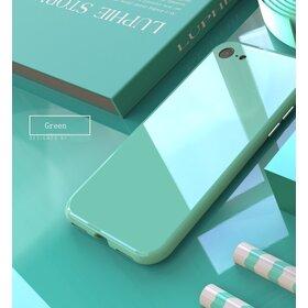Husa 360 Magnetica Full + Folie sticla pentru iPhone 7/ iPhone 8 Green Mint