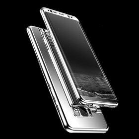 Husa 360 Mirror pentru Galaxy A8 (2018) Silver