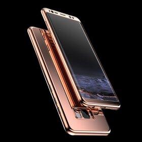 Husa 360 Mirror pentru Galaxy J5 (2017) Rose Gold