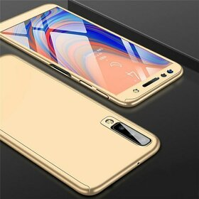 Husa 360 pentru Galaxy A50 Gold
