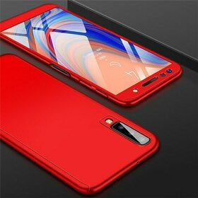 Husa 360 pentru Galaxy A50 Red