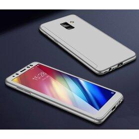 Husa 360 pentru Galaxy A6 Plus (2018) Silver