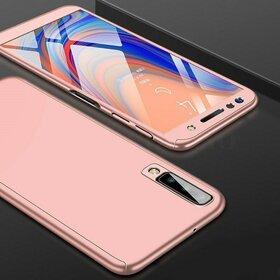 Husa 360 pentru Galaxy A7 (2018) Rose Gold