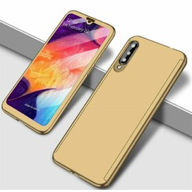 Husa 360 pentru Galaxy A70 Gold