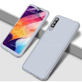Husa 360 pentru Galaxy A70 Silver