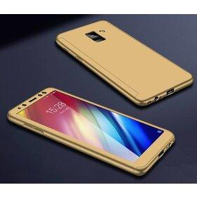 Husa 360 pentru Galaxy A8 (2018) Gold