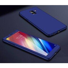 Husa 360 pentru Galaxy A8 Plus (2018) Blue