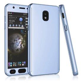 Husa 360 pentru Galaxy Grand Prime Pro (J250FD - J2 Pro 2018) Silver