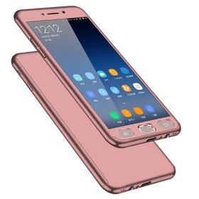Husa 360 pentru Galaxy Note 4 Rose Gold