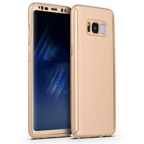 Husa 360 pentru Galaxy S8 Gold