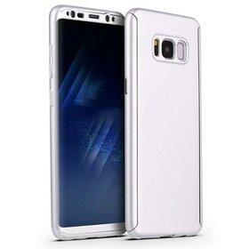 Husa 360 pentru Galaxy S8 Plus Silver