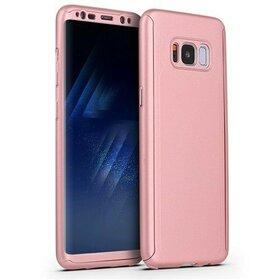Husa 360 pentru Galaxy S8 Plus Rose Gold