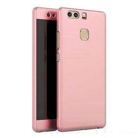 Husa 360 pentru Huawei P9 Rose Gold