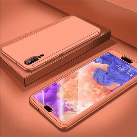 Husa 360 pentru Huawei P20 Lite (2018) Rose Gold