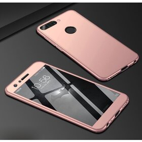 Husa 360 pentru Huawei Y6 (2018) Rose Gold