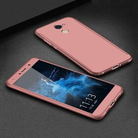 Husa 360 pentru Huawei Y7 (2017) Rose Gold