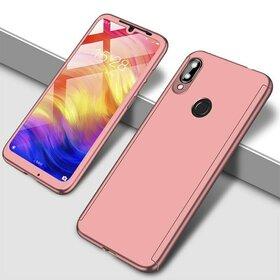 Husa 360 pentru Huawei Y7 Prime (2019)/ Huawei Y7 (2019) Rose Gold