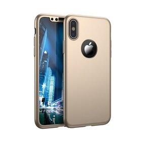 Husa 360 pentru iPhone X Gold