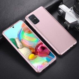 Husa 360 pentru Samsung Galaxy A31 Rose Gold
