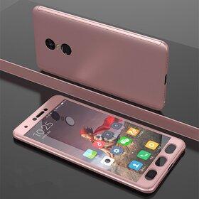 Husa 360 pentru Xiaomi Redmi Note 4 Rose Gold