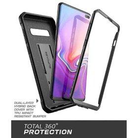 Husa 360 Supcase Unicorn Beetle Pro cu prindere pe curea pentru Samsung Galaxy S10 Plus Black